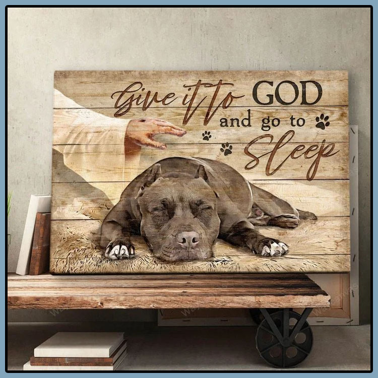 Pitbull give it to god and go to sleep canvas6