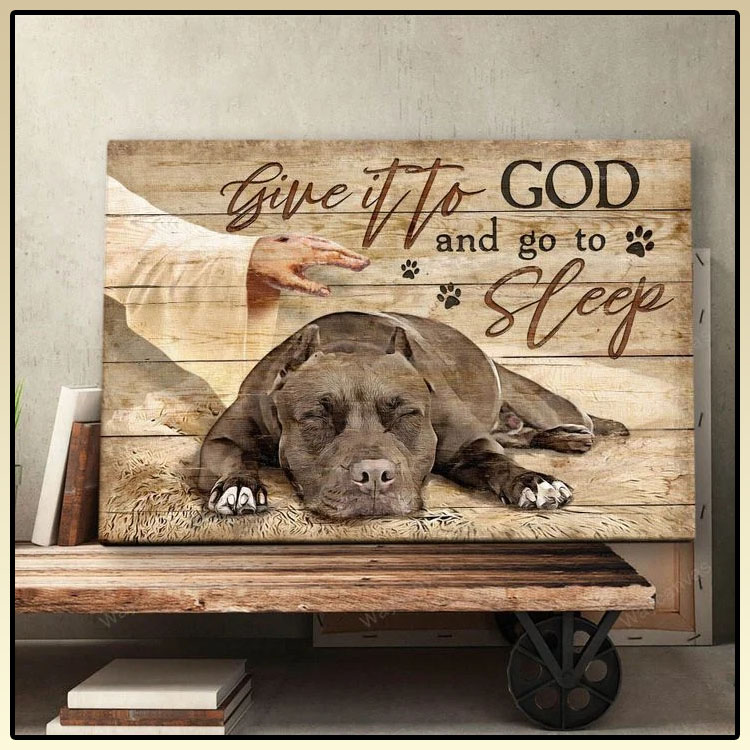 Pitbull give it to god and go to sleep canvas7