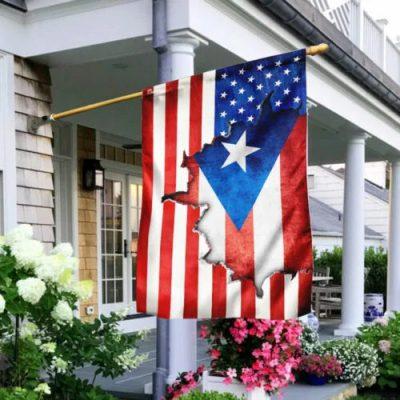 Puerto Rican American American Flag 1