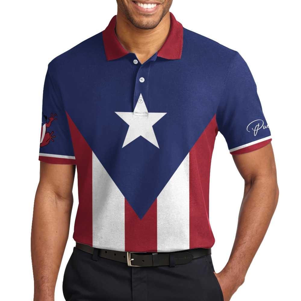 Puerto pico flag polo shirt5