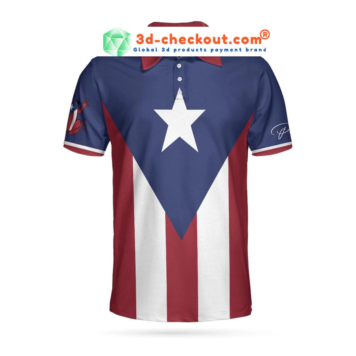 Puerto pico flag polo shirt6
