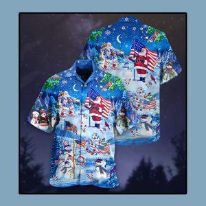 Santa Clause America merry xmas Hawaiian shirt1