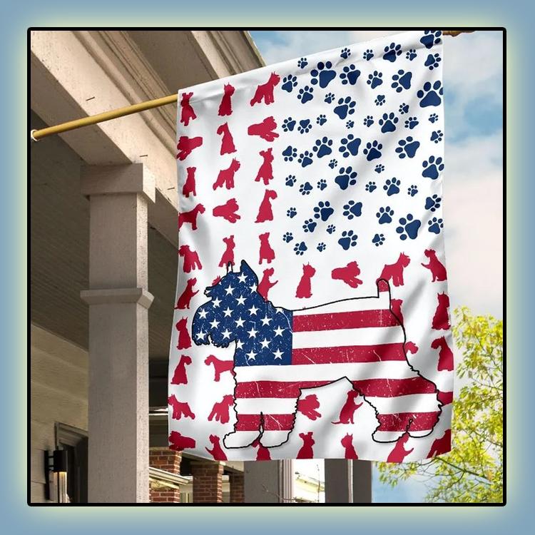 Schnauzer American house flag and garden flag
