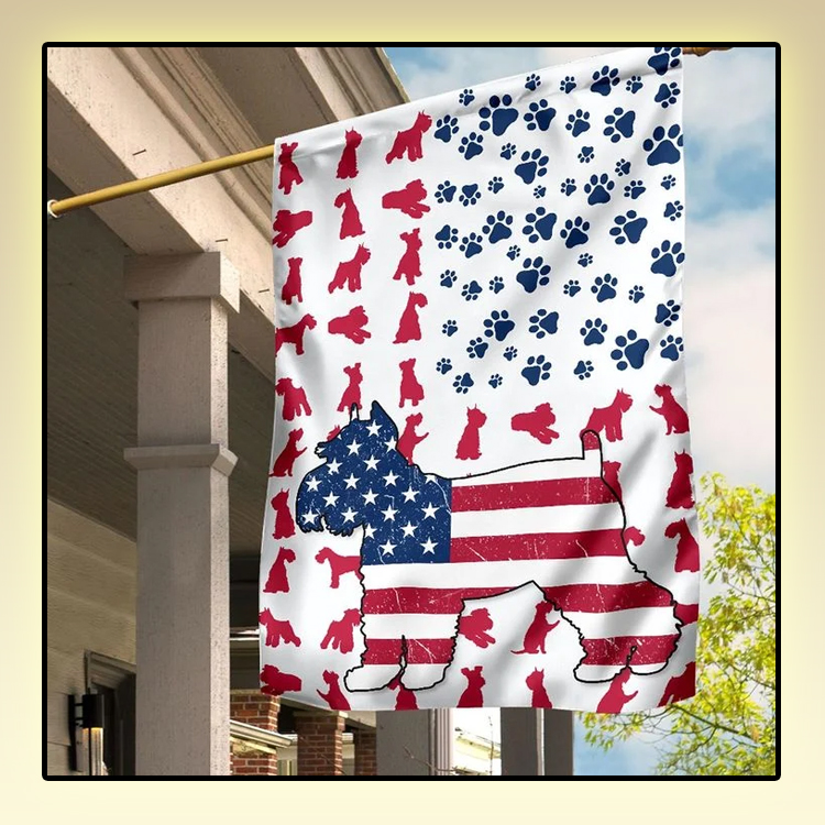 Schnauzer American house flag and garden flag1