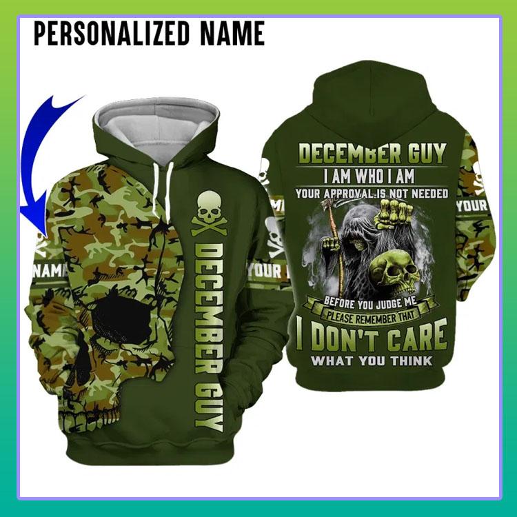 Skull december guy I am who I am custom name 3D hoodie4