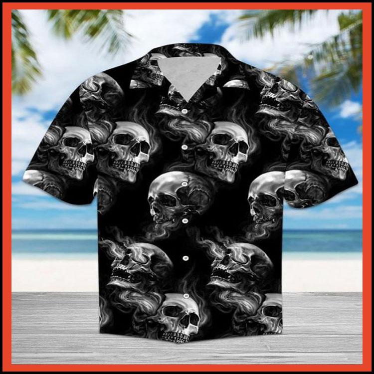 Skull smoke hawaiian shirt2