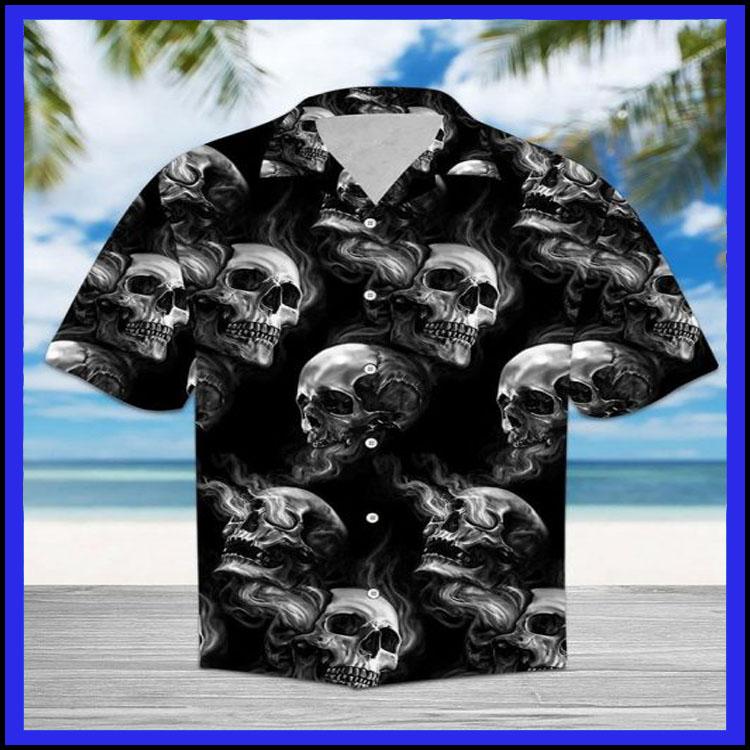 Skull smoke hawaiian shirt6