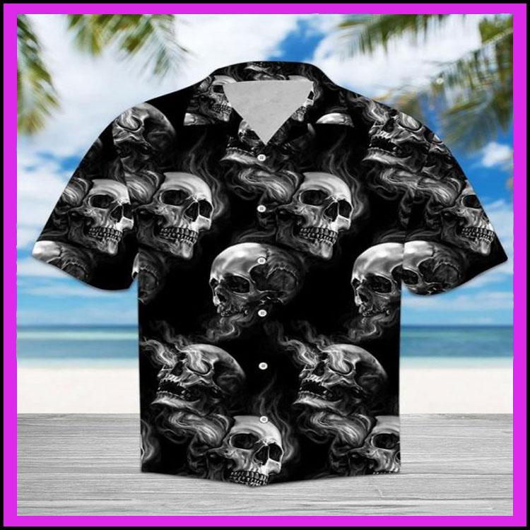 Skull smoke hawaiian shirt7
