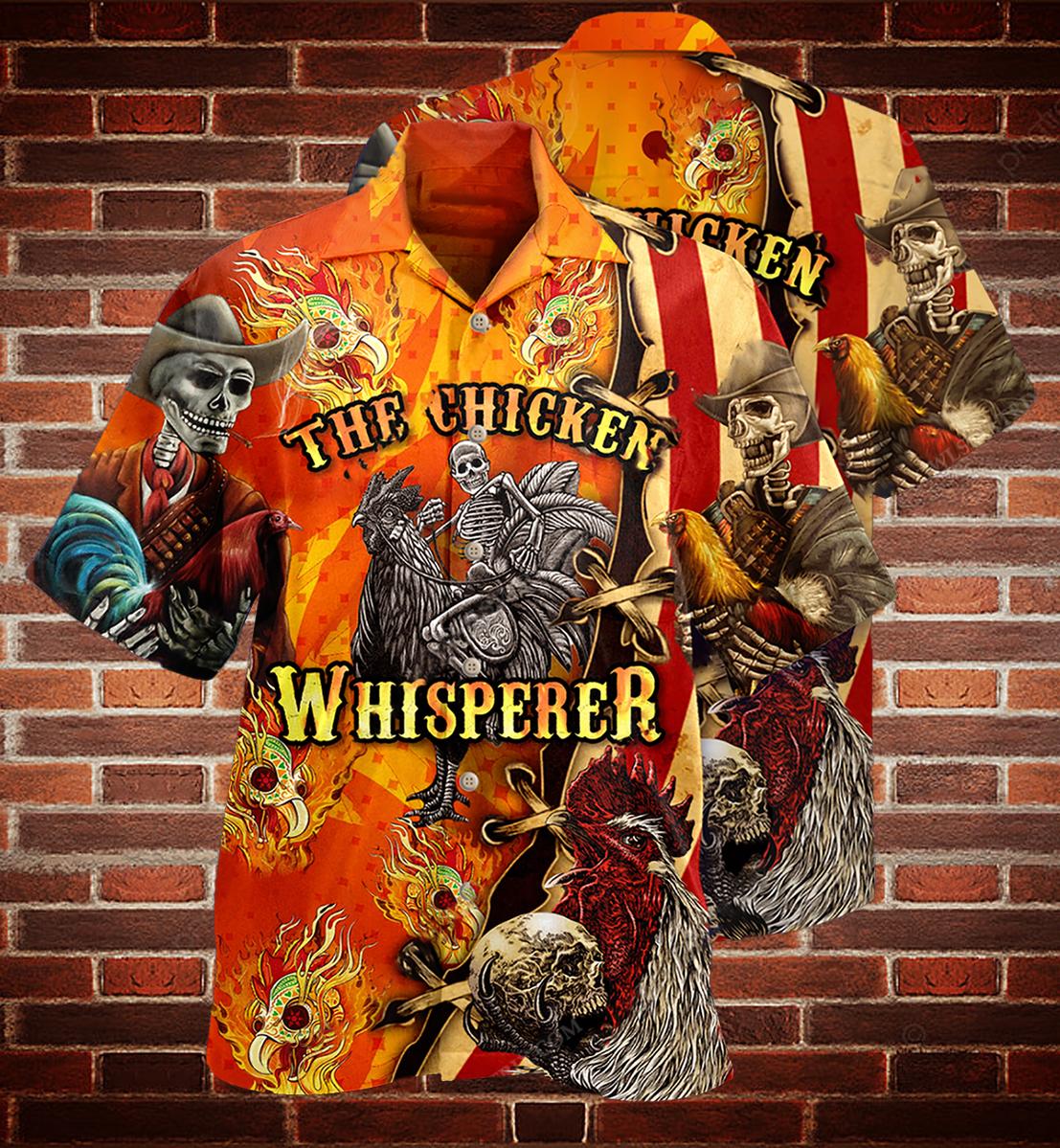 Skull the chicken whisperer Hawaiian shirt