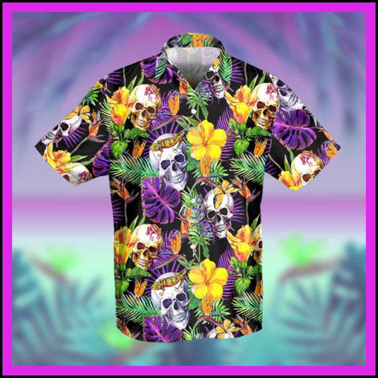 Skull tropical hawaiian shirt2