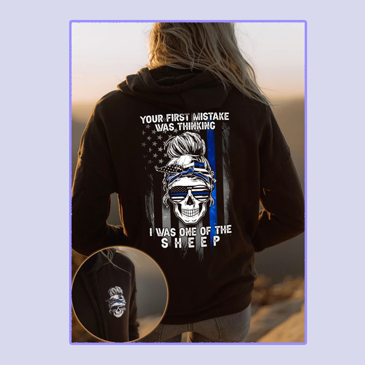 Skull your first mistake was thiknging I was one of sheep 3D hoodie4