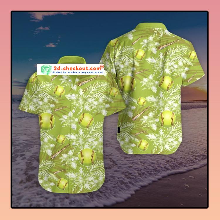 Softball Hawaiian Summer Hawaiian shirt2