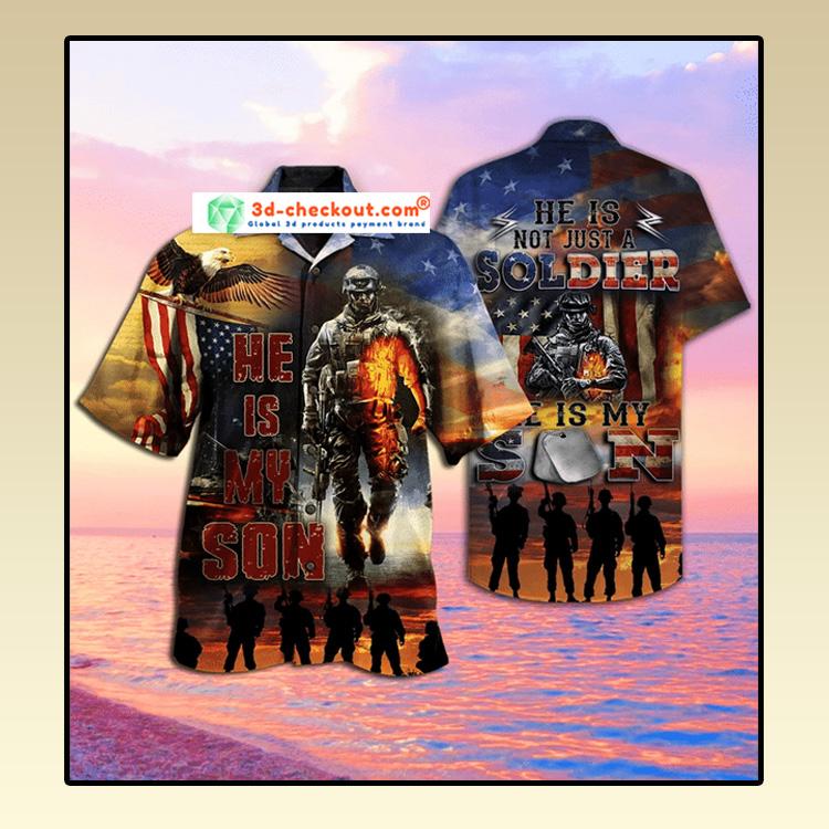 Soldier He Is my son Hawaiian Shirt2 1