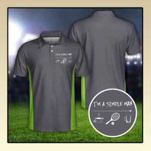 Tennis Im a simple man polo shirt3 1