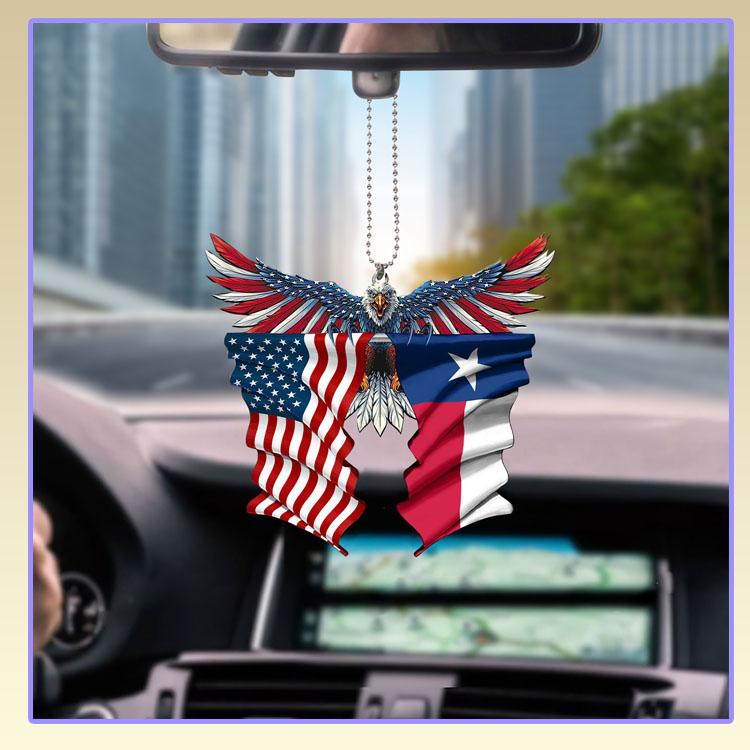 Texas United States American Eagle Flag car hanging ornament6