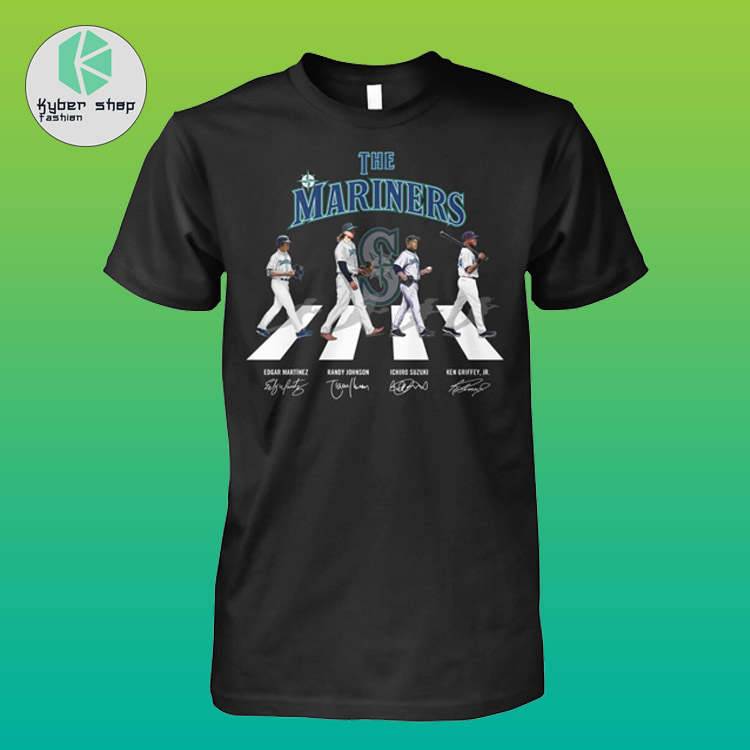 The Seattles mariners Abbey road shirt hoodie 2