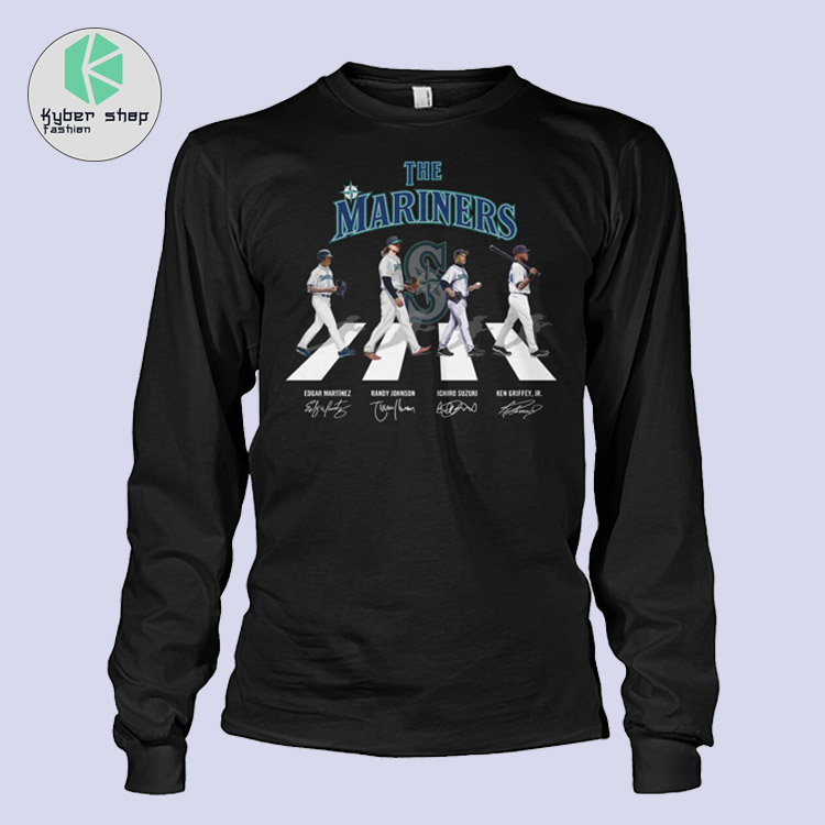 The Seattles mariners Abbey road shirt hoodie 3