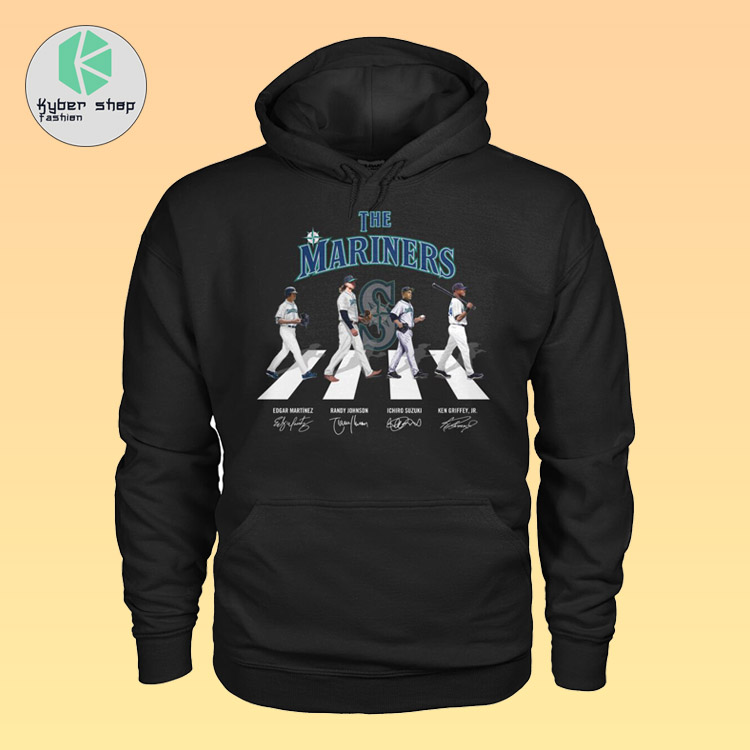The Seattles mariners Abbey road shirt hoodie 4
