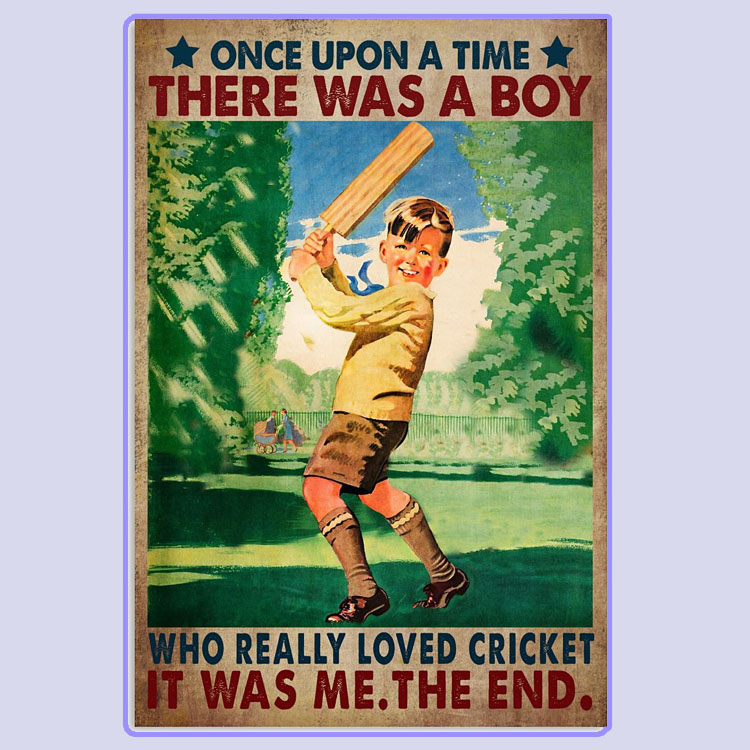 There was a boy who really loved cricket poster5