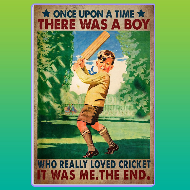 There was a boy who really loved cricket poster56