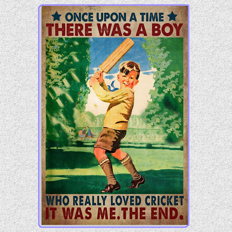 There was a boy who really loved cricket poster7