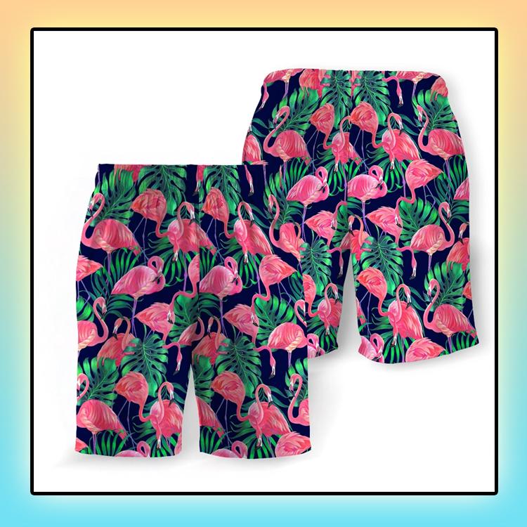 Tropical Flamingo Beach Short3