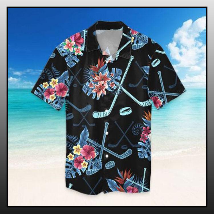 Tropical hockey hawaiian shirt2