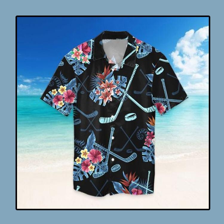 Tropical hockey hawaiian shirt4
