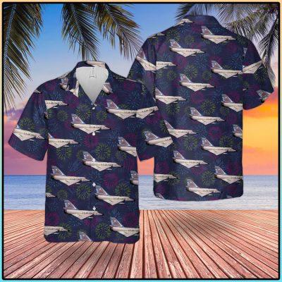 US Air Force Convair F106 Delta Dart 4th Of July Hawaiian Shirt And Short1