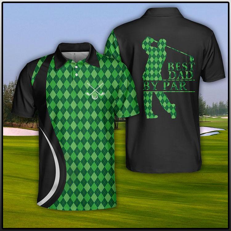 USA Golf Best Dad By Par Polo Shirt1
