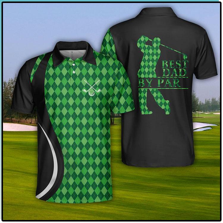 USA Golf Best Dad By Par Polo Shirt2