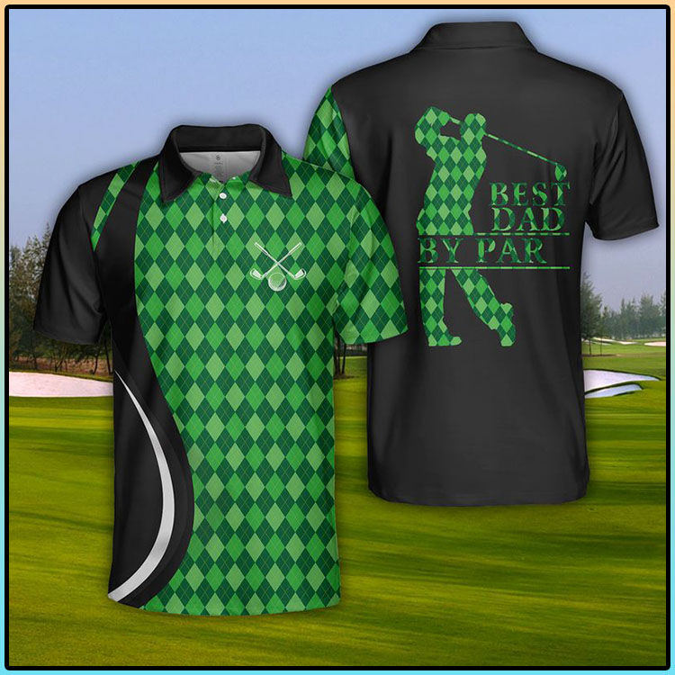 USA Golf Best Dad By Par Polo Shirt3