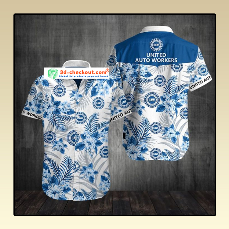 United auto workers UAW Hawaiian Shirt 4