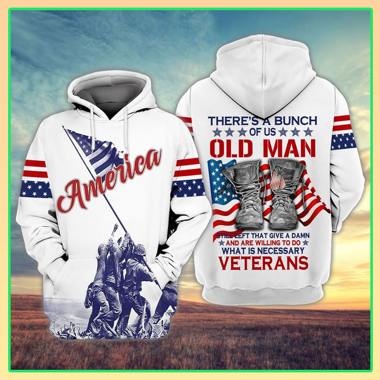 Veteran American flag theres a bunch of us old man 3D hoodie5