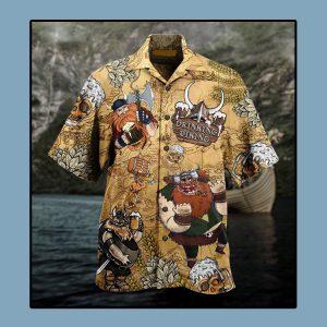 Viking drinking beer Hawaiian shirt1