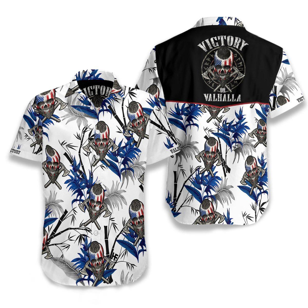 Viking victory valhalla Hawaiian shirt