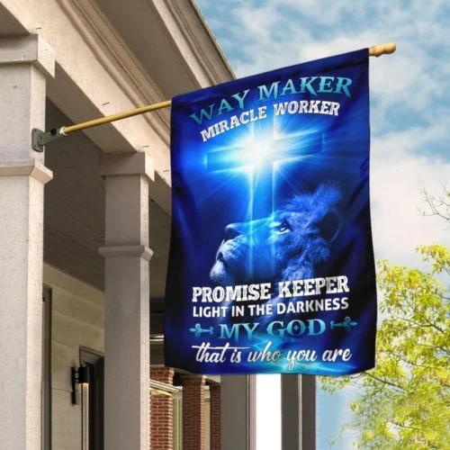 Way Maker Miracle Worker Jesus Christ Flag