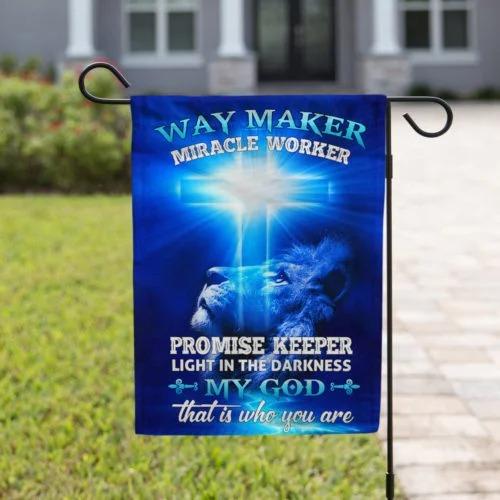 Way Maker Miracle Worker Jesus Christ Flag4