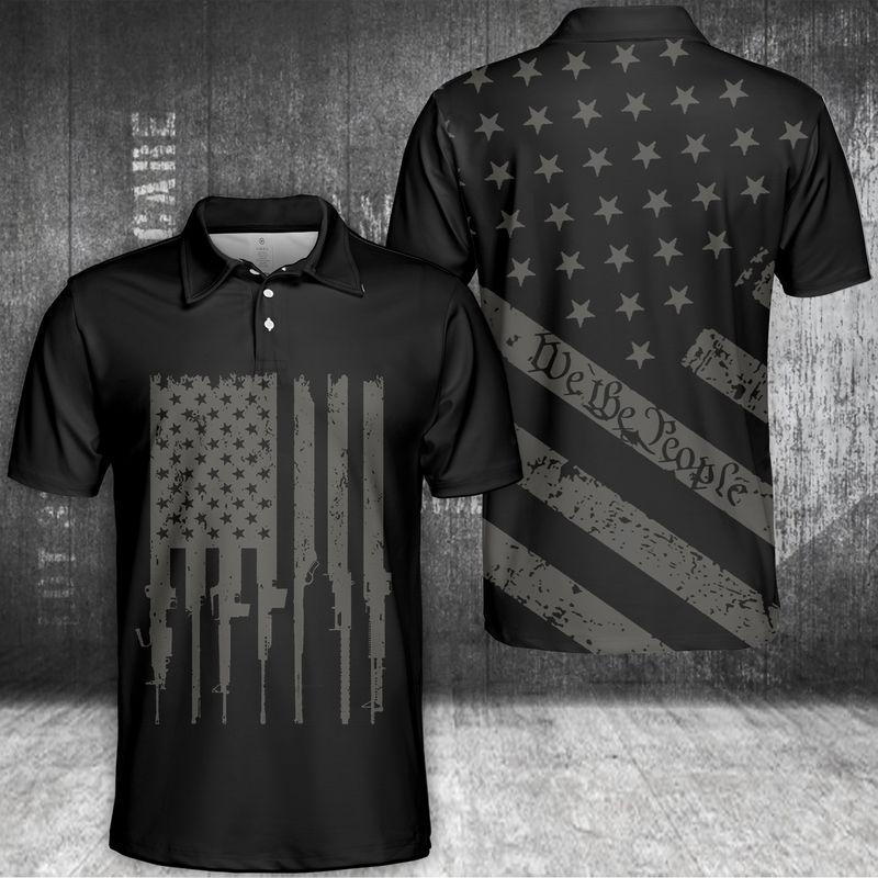 We The People U.S Flag Polo Shirt