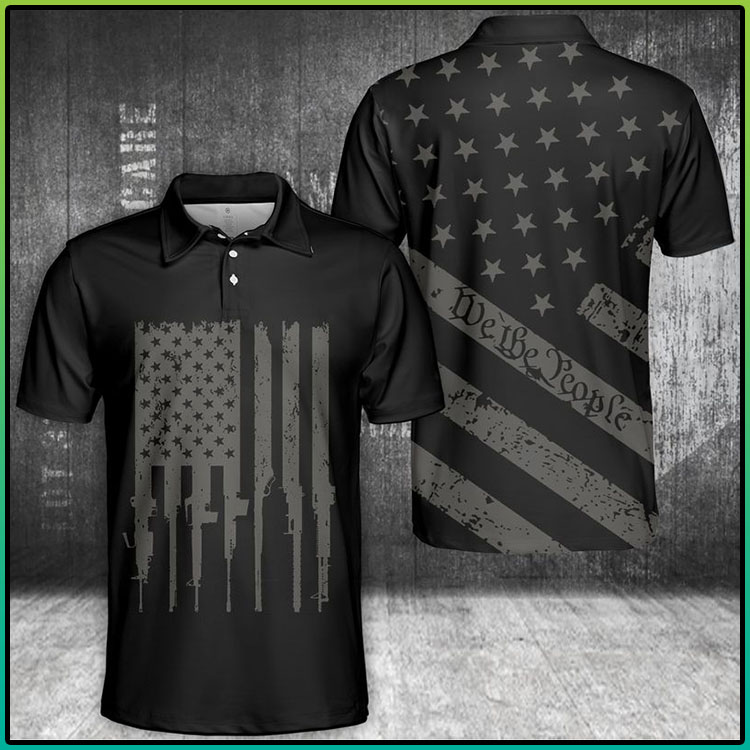 We The People U.S Flag Polo Shirt4