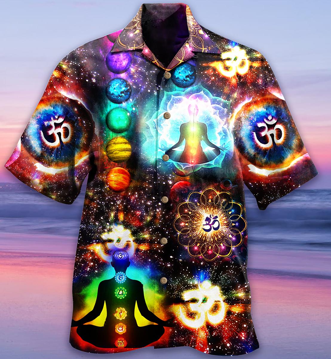 Yoga meditation Hawaiian shirt