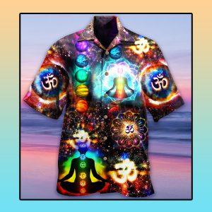 Yoga meditation Hawaiian shirt1