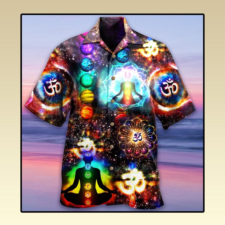 Yoga meditation Hawaiian shirt3