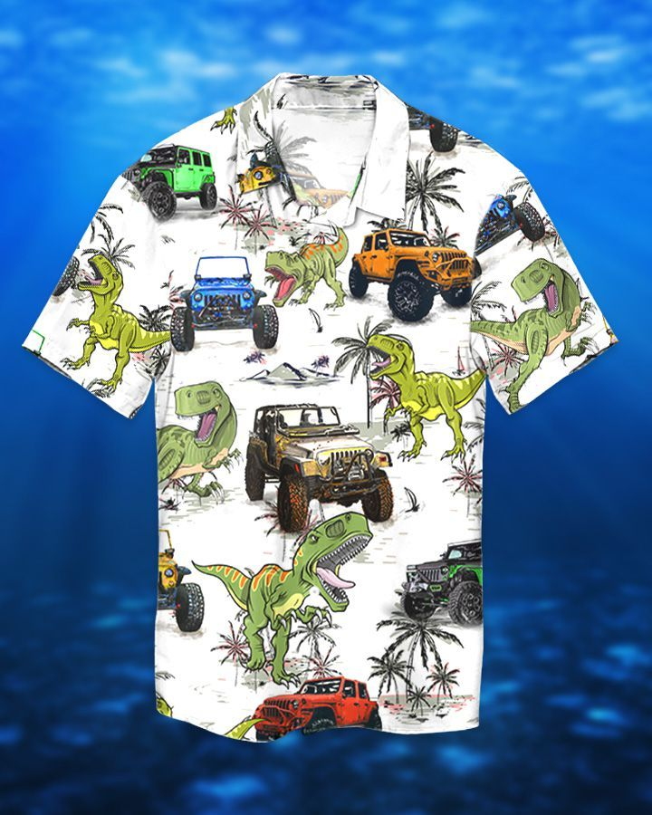 1 Jeep Ocean Trex Dinosaur Hawaiian Shirt And Short 1 1
