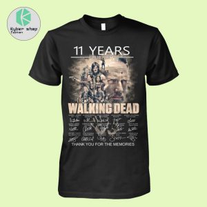 11 years 2010 2021 the walking dead thank you for the memories shirt 2