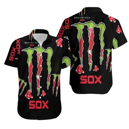 12 Boston Red Sox Monster Energy Hawaiian Shirt 1 1