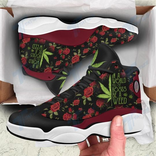 12 In A World Full Of Rose Be A Weed Air Jordan 13 SneakerShoes 1 1