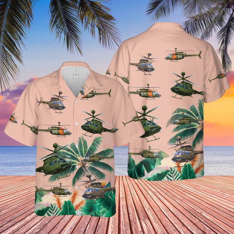 13 US Army Bell OH 58 Kiowa Hawaiian Shirt And Shorts 1 1