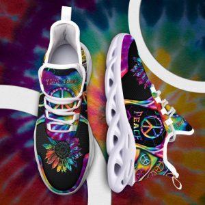 Hippie Peace Custom Name maxsoul Sneakers