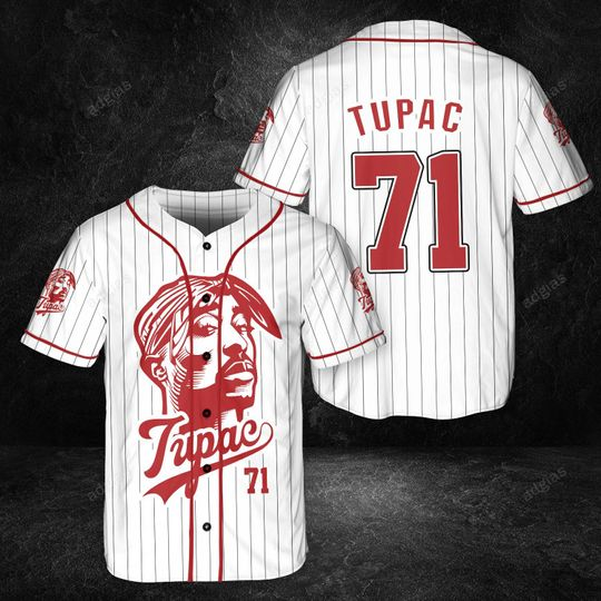 14 Tupac 71 Lovers Overprint Jersey Baseball 1 1